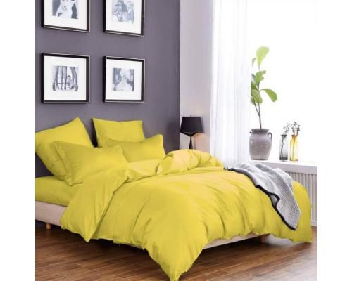 Ткань для постельного белья однотонная бязь желтая 4305