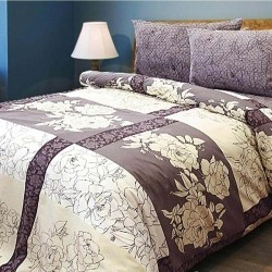 Двоспальне постільна білизна бязь  Kombo Beige