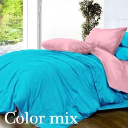 Постельное белье семейное двух цветов ранфорс Color Mix Step