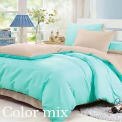 Постельное белье семейное двух цветов ранфорс Color Mix Set Tim