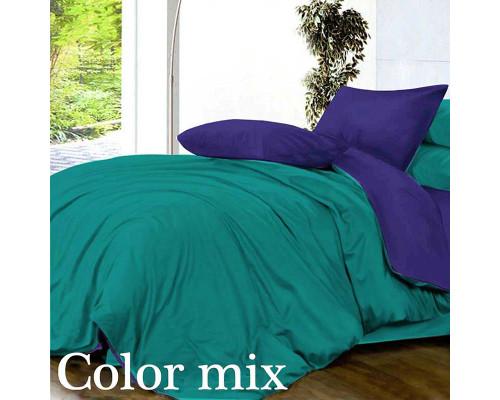 Двуспальное постельное белье двух цветов ранфорс Сolor Mix Tst