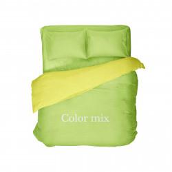Полуторное постельное белье двух цветов ранфорс Сolor Mix Atomik