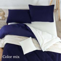 Постельное белье семейное двух цветов ранфорс Color Mix Risn