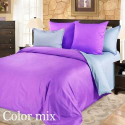Полуторна постільна білизна двох кольорова ранфорс Сolor Mix Montere