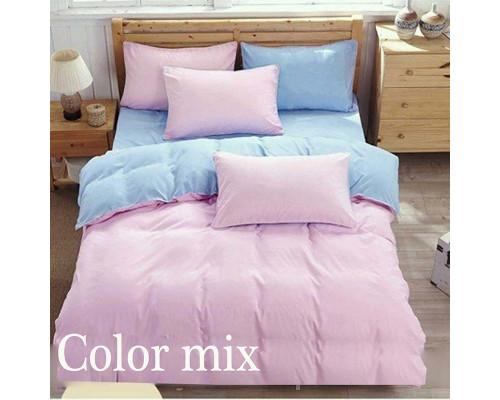 Двуспальное постельное белье двух цветов ранфорс Сolor Mix Peps