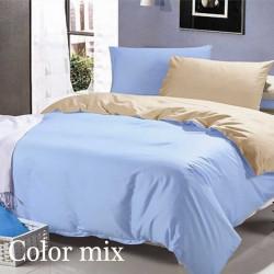 Полуторное постельное белье двух цветов ранфорс Сolor Mix Olis