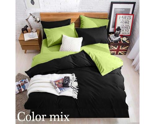 Постільна білизна сімейна двох кольорів ранфорс Color Mix Oliver
