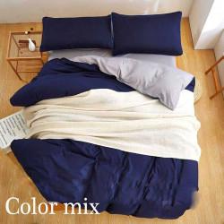 Постільна білизна євро дво кольорова ранфорс Color Mix Timic