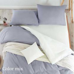 Постельное белье семейное двух цветов ранфорс Color Mix Tim