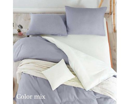 Постільна білизна євро дво кольорова ранфорс Color Mix Tim