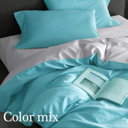 Постільна білизна євро дво кольорова ранфорс Color Mix Mast