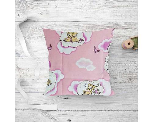 Подушка детская лебяжий пух Мишки Pink