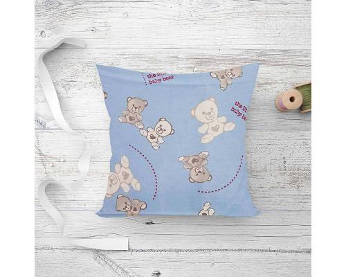Подушка детская лебяжий пух Мишка Ted