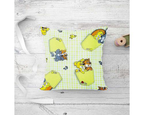 Подушка детская лебяжий пух Кармашки