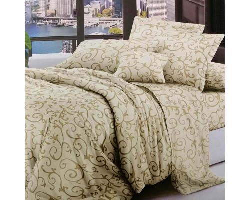 Полуторное постельное белье полиэстер Venzel Yellow