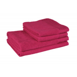 Полотенце банное ➦ махровое 70x140 красное tl 400