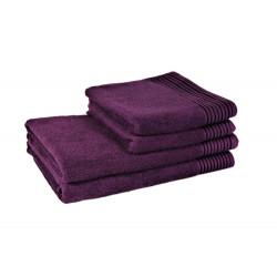 Полотенце банное махровое 70x140 фиолетовое tl 400