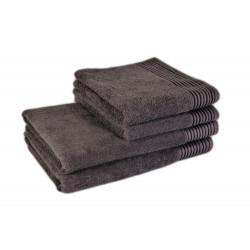 Полотенце для лица и рук махровое 50x90 коричневое tl 400