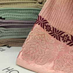Рушники лазневі махра 50x90 рожевий 4084