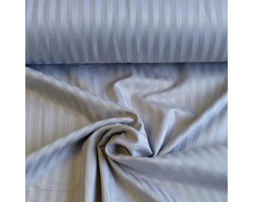 Тканина для постільної білизни однотонна страйп сатин 4555