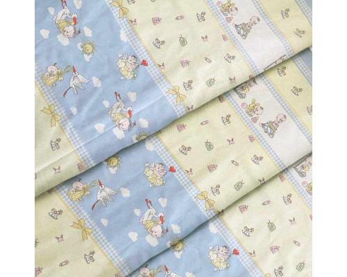 Тканина для дитячої постільної білизни бязь Буслік 2925