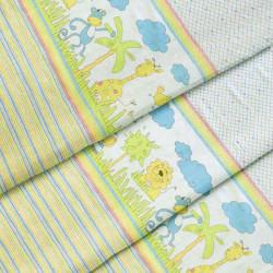 Ткань для детского постельного белья бязь Джунглі 2932