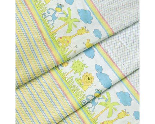 Тканина для дитячої постільної білизни бязь Джунглі 2932