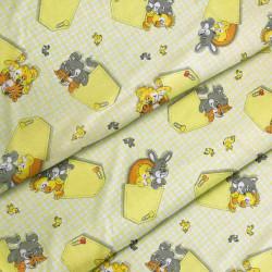 Ткань для детского постельного белья бязь Карманы 2949