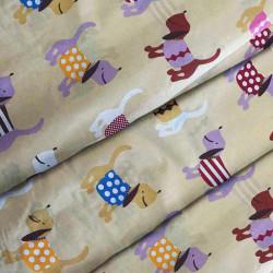 Тканина для дитячої постільної білизни бязь Woof 7180