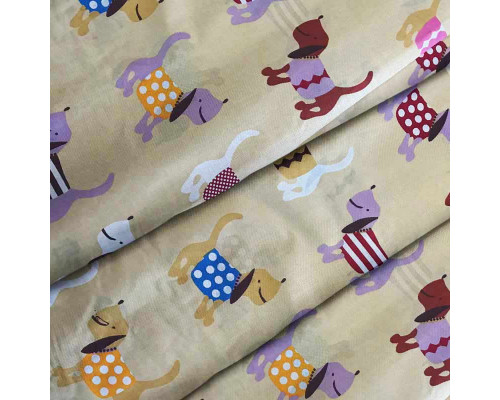 Ткань для детского постельного белья бязь Woof 7180