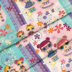 Ткань для детского постельного белья бязь Лол 8255