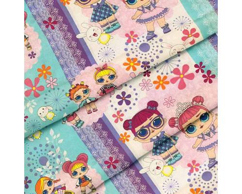 Тканина для дитячої постільної білизни бязь Лол 8255