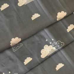 Ткань для постельного белья бязь Облачко В 8309