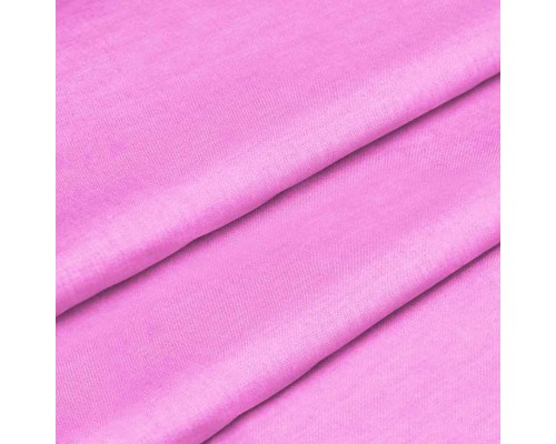 Тканина для постільної білизни однотонна бязь рожева 1759