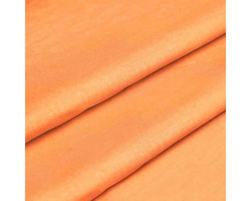 Ткань для постельного белья однотонная бязь оранжевая 1773